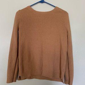 Tan textured sweater